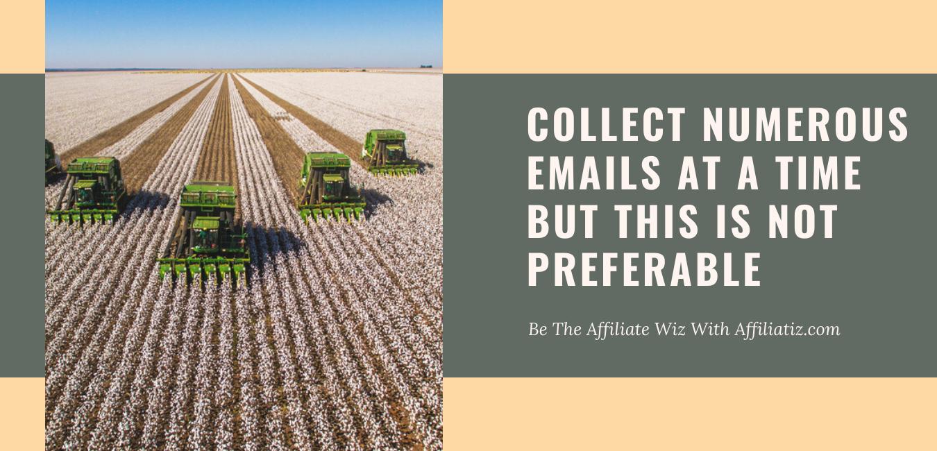 Email harvesting